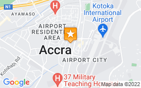 Отель Accra City Escape Hotel на карте мира