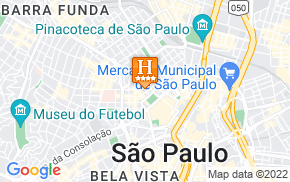Отель Bourbon Business Hotel Sao Paulo 4* на карте мира