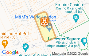 Отель W London - Leicester Square 5* на карте мира