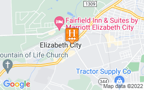 Отель Hampton Inn Elizabeth City 3* на карте мира
