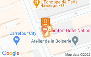 Отель Comfort Hotel Paris Nation 2* на карте мира