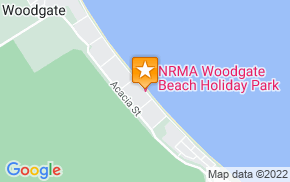 Отель Woodgate Beach Tourist Park на карте мира