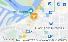 Отель Düsseldorf City Center Apartment am Rhein на карте мира