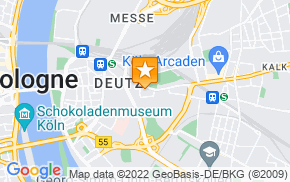 Отель Köln Deutz/Messe, Lanxess Arena на карте мира